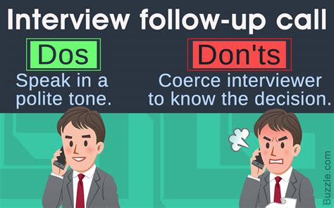follow up interview call follow up call after an interview dos and don 39 ts to be
