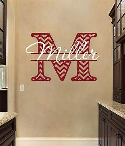 monogram wall decals personalized monogram wall decal With custom wall lettering