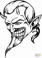 Devil Coloring Printable Dibujos Colorear Diable Dibujo Skull Coloriage Demonio Demon Teufel Kleurplaat Devils Disegni Adults Kleurplaten Diablo Halloween Colorare sketch template