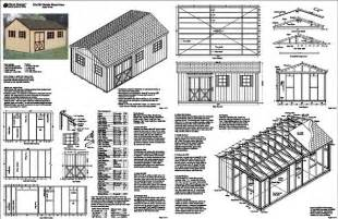 backyard guide material list for 12x20 shed