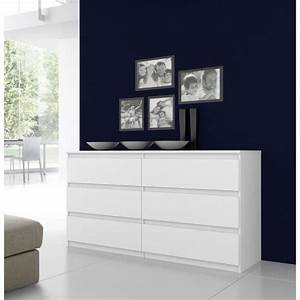 Grande Commode Blanche : finlandek commode natti 154cm blanc achat vente ~ Teatrodelosmanantiales.com Idées de Décoration