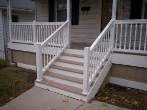 azek front porch with vinyl railings and columns in st louis st louis decks screened