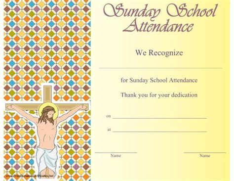 This Certificate Certifies The Completion Of Sunday School Pin By N On Children S Ministry