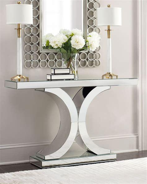 mirror console table splendora mirrored console entrance