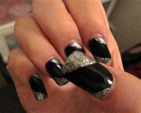 black and silver nail designs superb silver nail designs nail designs