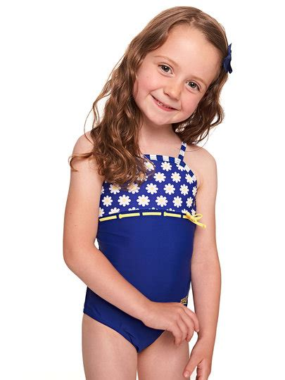 zoggs daisy stripe toddler girls  piece swimsuit