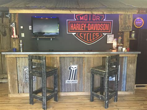 Garage Bar, Man Cave, Basement Bars, Rustic Bar, Harley