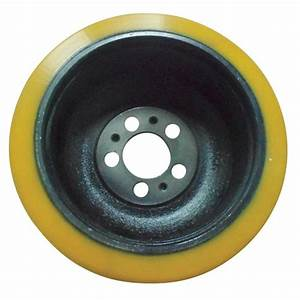 1x New Polyurethane Electric Pallet Jack Wheel- Drive Wheel