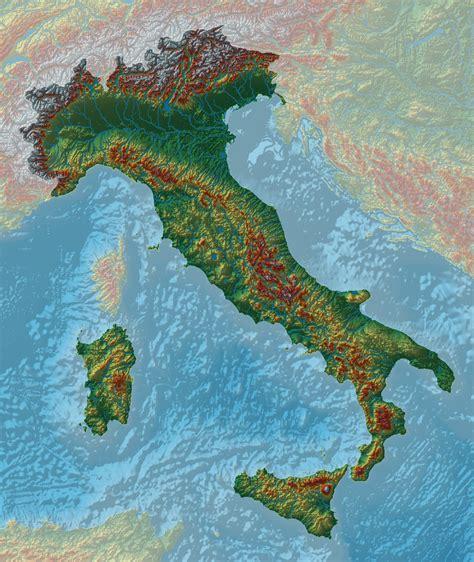relief map  italy map italy map map italy