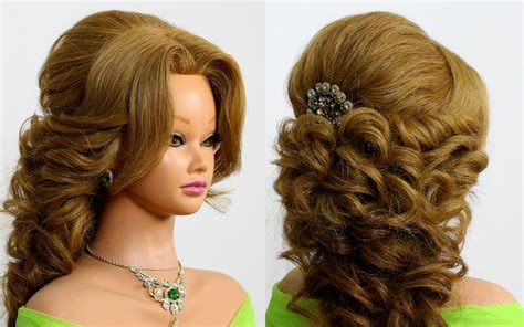 Prom Bridal Hairstyle For Long Hair. Tutorial