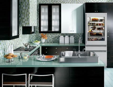 contemporary kitchen bluegreen glassge monogram appliances contemporary kitchen