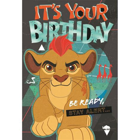 Its Your Birthday Disney The Lion Guard Birthday Card