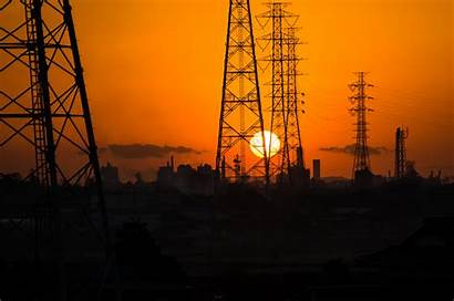 Electrical Power Line Wallpapers Background Grid Industrial