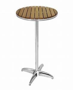 Table Haute En Bois : table haute mange debout diam 60 cm bois teck tra f5r 242 ~ Dailycaller-alerts.com Idées de Décoration