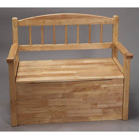 spindle  bench toy chest  natural finish walmartcom