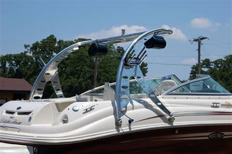 Pontoon With Wakeboard Tower For Sale by Mall Wakeboard Tower Tower Racks And Biminis