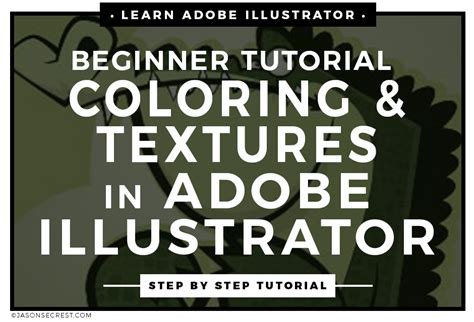 adobe illustrator coloring tutorial adding texture jason