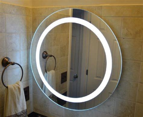wall mounted lighted vanity mirror led mam1d28 commercial