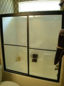oil rubbed bronze framed tub bypass with clear glass