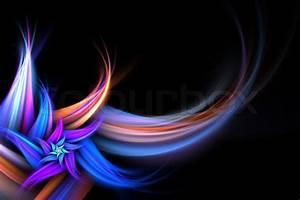 Verspielter Floraler Design Stil : eine abstrakte fraktalen hintergrund blume mit viel copyspace stil verleihen jedem design ~ Watch28wear.com Haus und Dekorationen