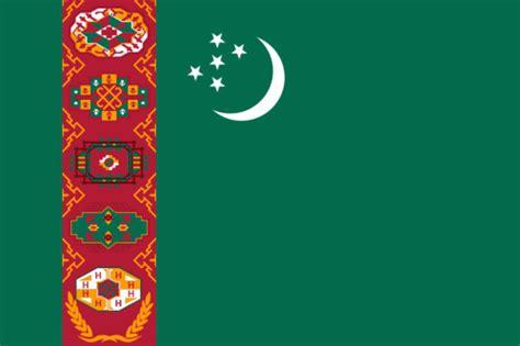 flagge turkmenistan fahne turkmenistan