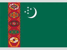 Flagge Turkmenistan, Fahne Turkmenistan