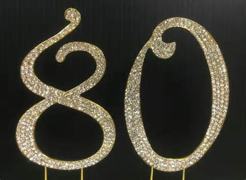 rhinestone number cake toppers gold rhinestone number 80 cake topper 80th birthday