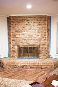 Brick, Fireplace, Makeover