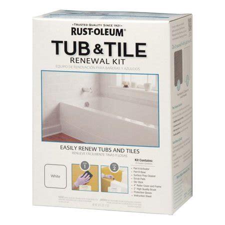 rustoleum tub refinish rust oleum speclt qt kit 2pk tub tile renewal wm walmart