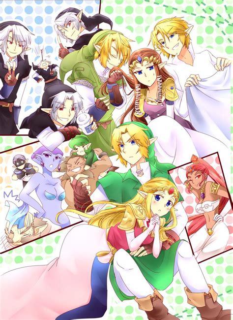 The Legend Of Zelda Oottp Characters Cast Art Legend Of