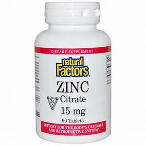 Zinc Citrate  15 Mg  90 Tablets