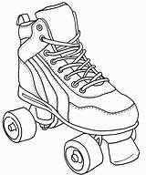 Roller Coloring Skate Pages Colouring Derby Skates Skating Drawing Sketch Sheets Quad Tattoo Shoes Printable Jamestown Adult Clipart Books Print sketch template