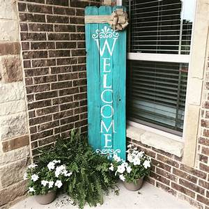 Welcome, Porch, Sign, Out, Of, Reclaimed, Wood