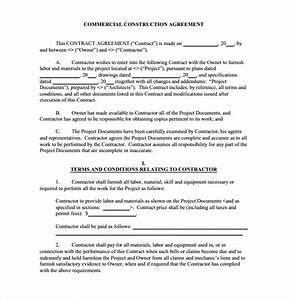 13 sample free construction contract templates to download With construction documents definition
