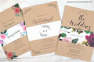 new kraft paper wedding invitations with seed paper belly With wedding invitations on craft paper