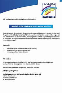 Radio Regenbogen Rechnung Einreichen : radio regenbogen sucht nachrichtenredakteur w m in freier mitarbeit ~ Themetempest.com Abrechnung