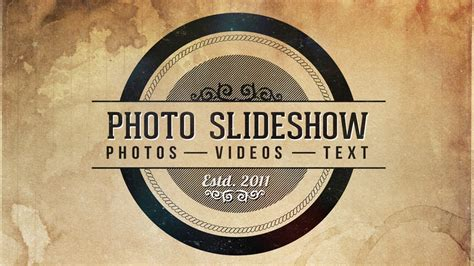 video template foto photo slideshow after effects template youtube
