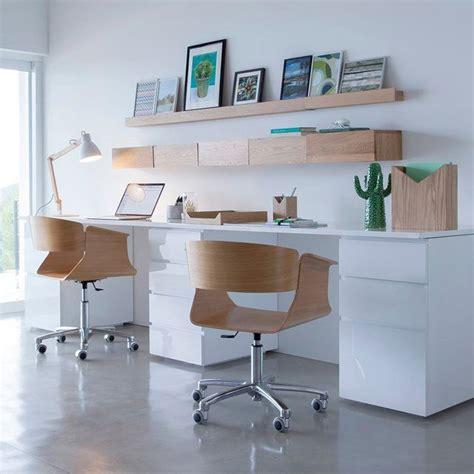 bureau de maison bureau pour la maison blanc et bois décoration