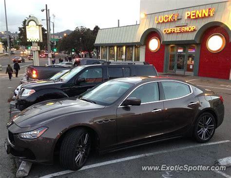 Maserati Of San Francisco by Maserati Ghibli Spotted In San Francisco California On 11