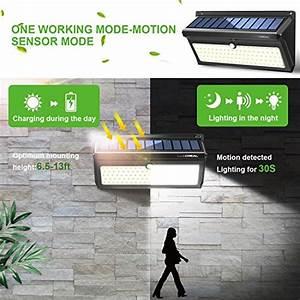 Solarlampen Mit Bewegungsmelder Und Akku : solarleuchte f r au en 100led superhelle solarlampen f r ~ A.2002-acura-tl-radio.info Haus und Dekorationen