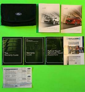 2012 Ford Edge Factory Owners Manual Guide Set W   Nav