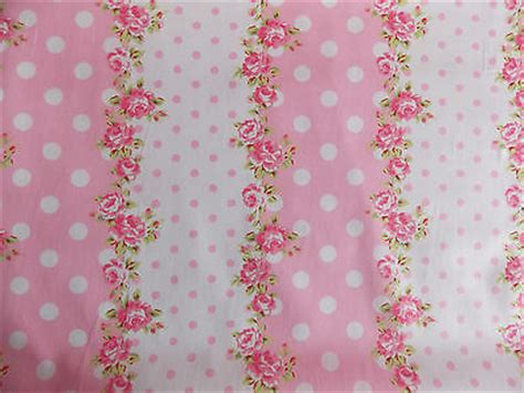 shabby chic fabrics uk rose floral spot100 cotton fabric shabby chic vintage retro p metre pink no 5