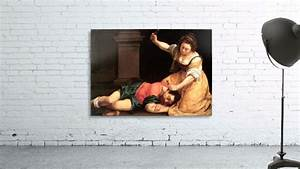 Jael and Sisera - Artemisia Gentileschi Canvas