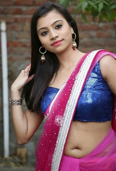 dressing below navel saree priyanka navel show in transparent saree
