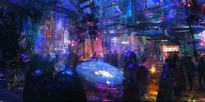 Cyberpunk Futuristic Artwork Neon Night Sci Fi