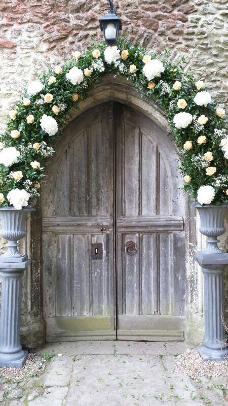 Arch Over The Church Door Inc White Hydrangea