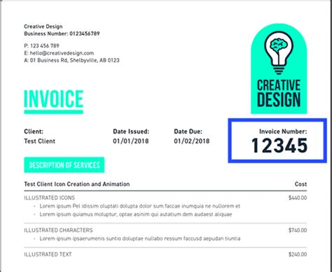 assign invoice numbers