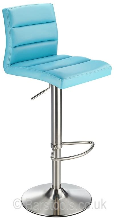 Deluxe Brushed Bar Stool Blue