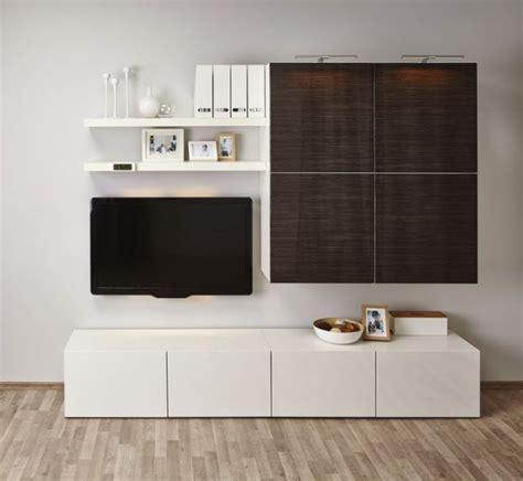 Kleine Wohnwand Ikea by Ikea Besta Regal Aufbewahrungssystem Weiss Holzoptik