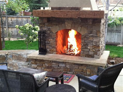 Outdoor Wood Fireplace Designs Bistrodre Porch And